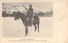 Aus Den Karpathen Vorposten Reiter ,Schnee Feldpost 1917 - Oorlog 1914-18