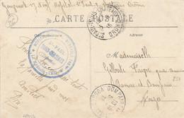 """Cachet """" HOPITAL MILITAIRE BENEVOLE 148 BIS ST PAUL TROIS-CHATEAUX ( Drôme ) """" Sur CP FM > DOMPAIRE VOSGES - WW I"""