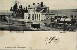 Habay-la-Neuve La Gare Circulée En 1903 - Habay