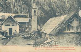 J98 - 04 - Sur La Route De MAURIN - Hameau Abandonné De Saint-Antoine - Une Fresque Sur La Maison De Gauche - Andere Gemeenten