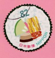 2017 GIAPPONE Cibo Food Futomaki - 82 Y Usato Francobollo In Tondo - Gebruikt