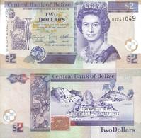BELIZE 2 Dollars 2011 P 66 D UNC - Belize