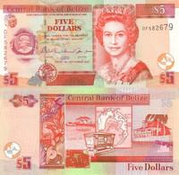 BELIZE 5 Dollars 2007 P 67 C UNC - Belize