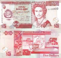 BELIZE 5 Dollars 2009 P 67 D UNC - Belize