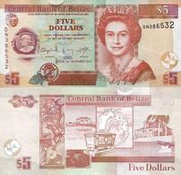 BELIZE 5 Dollars 2011 P 67 E UNC - Belize