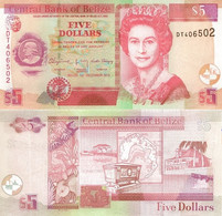 BELIZE 5 Dollars 2015 P 67 F UNC - Belize