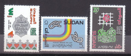Stamps SUDAN 1993 SC 454 456 HUMAN RIGHTS MNH SET # 71 - Sudan (1954-...)
