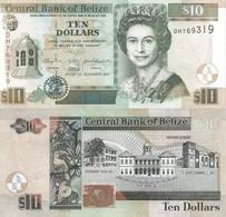 BELIZE 10 Dollars 2011 P 68 D UNC - Belize