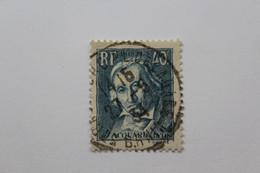 1934,Y&T NO 295 40C BLEU-GRIS CENTENAIRE DE LA MORT DU TISSEUR JOSEPH MARIE JACQUARD BELLE OBLITERATION... - Gebraucht