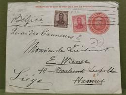 Enveloppe, Oblitéré Buenos Aires Envoyé à Namur 1909 - Cartas