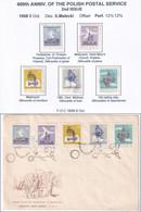POLAND 1958 Postal Service Fi 918-22 Used Page - Usados