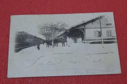 01 Culoz La Gare Bahnhof Station + Train 1901 TOP Quality - Sonstige Gemeinden