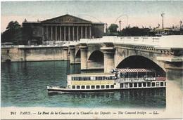 PARIS Le Pont De La Concorde Et La Chambre Des Deputes - Colorisée - Bridges