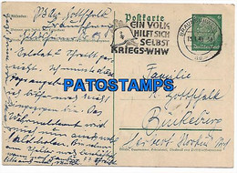 146193 GERMANY BRAUNSCHWEIG CANCEL YEAR 1940 POSTAL STATIONERY POSTCARD - Non Classificati