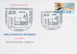 83498) BRD - Karte - SoST 06886 LUTHERSTADT WITTENBERG Vom 31.10.2017 - 500 Jahre Reformation, Stadtkirche - Machine Stamps (ATM)