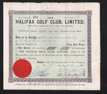 Halifax Golf Club - 1938 - Sport
