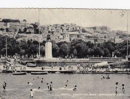 NAPOLI-VEDUTA DAL MARE-MONUMENTO A DIAZ-CARTOLINA VERA FOTOGRAFIA- VIAGGIATA IL 1-5-1958 - Napoli (Naples)