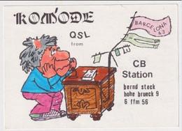 QSL Card - AK 386259 Germany - Frankfurt - CB
