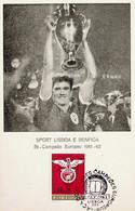 1963 Portugal Vitórias Do Sport Lisboa E Benfica Na Taça Dos Clubes Campeões Europeus - Cartoline Maximum