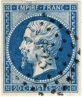 "FRANCE - 1853-60 - Losange PC 423 ""BOHAIN EN VERMANDOIS"" Sur Yv.14B 20c Bleu Type II - 1849-1876: Classic Period"
