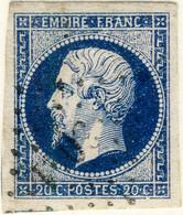 FRANCE - 1853-60 - N°14 20c Bleu Type I Planché (position G2-16) - Obl. TB - 1853-1860 Napoleon III