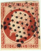 FRANCE - 1853-60 - N°17A 80c Carmin - Obl. étoile Pleines - B (marges Courtes) - 1853-1860 Napoleon III