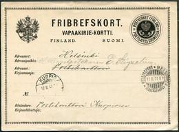 Russia Finland 1901 Kuopio Pmk OFFICIAL Postal Service Stationery Card Dienstkarte Ganzsache Finnland Entier Finlande - Non Classificati