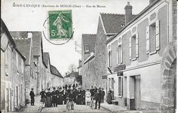 """MONT L EVEQUE """" Rue De Meaux Tres Animée , Belle Carte  """"  N°3731 - Ohne Zuordnung"""