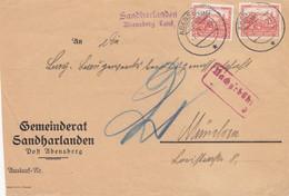 Sanharlanden, Post Abensberg Nach München, Nachgebühr Vorderseite, Nothilfe - Sin Clasificación