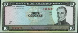 EL SALVADOR - 10 Colones 21.07.1980 UNC P.129 B - El Salvador