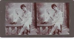 Stereofoto (photo Stéréo) -erotische Darstellung 1482 - Stereoscoop