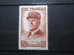 VEND BEAU TIMBRE DE FRANCE N° 580 , X !!! - 1941-42 Pétain