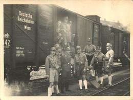 NAZIS AUTRICHIENS  APRES L'ANSCHLUSS TRAIN NOTE DEUTSCHE REICHSBAHN PHOTO ORIGINALE 11.50 X 8.50 CM - War, Military