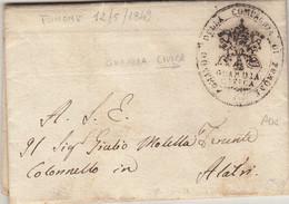 Risorgimento, Fumone Per Alatri. Guardia Civica. Lettera Con Interessante Contenuto Storico 1849 - 1. ...-1850 Prefilatelia