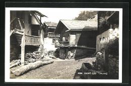 AK Saint-Luc, Alte Häuser Im Ort - VS Wallis