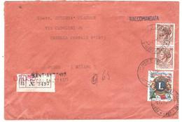 RACCOMANDATA SANT'ANTONIO DI CALANGIANUS SS - 1961-70: Marcophilia