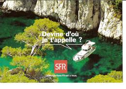 CPM - PUB SFR - DEVINE D'OU JE T'APPELLE ? - CASSIS - Advertising