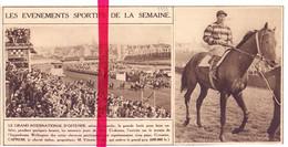 Orig. Knipsel Coupure Tijdschrift Magazine - Oostende Ostende - Hippodrome Wellington Renbaan - 1933 - Zonder Classificatie
