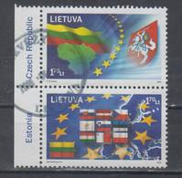 Lithuania 2004 Mi 844-5 Used  United Europa Pair - Lituania