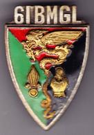 61° BMGL. 61° Bataillon Mixte De Génie Légion. émail Grand Feu. D.2277. 2 Anneaux. - Esercito
