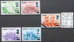 NB - [855280]TB//**/Mnh-c:25e-Zaïre 1994 - N° 1465/69-COB/1378/82-YV, Dynastie Belge, Surcharge, Familles Royales, SNC - 1990-96: Mint/hinged