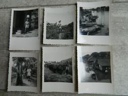 MILITARIA LOT DE 6 PHOTOS DE LA GUERRE D'INDOCHINE   EN 1950  2ème SECTION DISCIPLINAIRE DE MARCHE DESCRIPTIF AU DOS - Oorlog, Militair