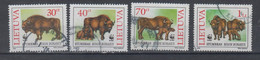 Lithuania 1996 Mi 599-602 Used European Bison WWF - Lituania