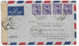 "EGYPTE - 1949 - ENV. Du NAVIRE ITALIEN T/S ""PENSILVANIA"" CENSUREE SUEZ => PRINCIPAUTE De MONACO ! DESTINATION ! PETROLE - Storia Postale"