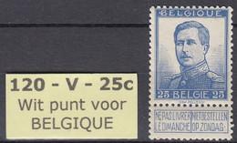 N° 120 - V1 * 64,00 Euro  - Centrage +++ - Errors (Catalogue COB)