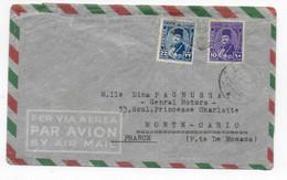 "EGYPTE - 1949 - ENV. Du NAVIRE ITALIEN T/S ""PENSILVANIA"" CENSUREE SUEZ => PRINCIPAUTE De MONACO ! OBLITERATION LOSANGE ! - Storia Postale"