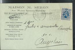 Carte De Firme (Maison Seron) Obl. CHARLEROI 1 Du 25/09/1932 + Griffe De GOSSELIES - Langstempel