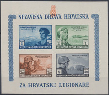 Croatie (1943) - BL 5 / Blok Br. 5 B ** Neuf Sans Charnières (MNH) - Kroatië