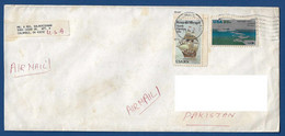 USA UNITED STATES OF AMERICA  POSTAL USED AIRMAIL COVER TO PAKISTAN - America (Other)