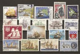 Monde, Bateaux à Voiles - Voiliers, Histoire De La Marine - Petit Lot De 53° - 1 FDC - 1 Série Complète Guyana - 5 Scans - Alla Rinfusa (max 999 Francobolli)